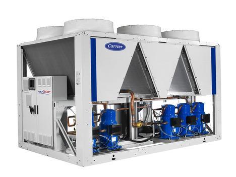 Carrier AquaSnap®, enfriadoras scroll aire-agua con refrigerante R-32