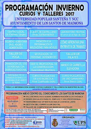 La Universidad Popular Santeña ofrecerá nuevos cursos y talleres durante todo el invierno
