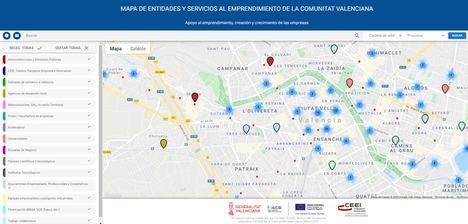 El Mapa de entidades que prestan apoyo al emprendimiento suma 760 entidades