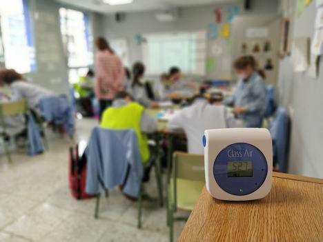El colegio Santurtzi Calasanz de Bizkaia implanta un sofisticado método de control del aire contra los contagios de Covid
