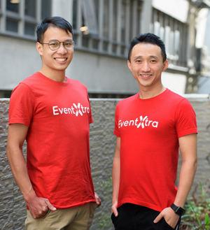 De izqda. a dcha.: Angus Luk  y Sum Wong,  cofundadores de EventXtra.