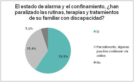 El 63,9% de las familias cree que la crisis de la COVID-19 supondrá un retroceso para la inclusión de sus hijos con discapacidad