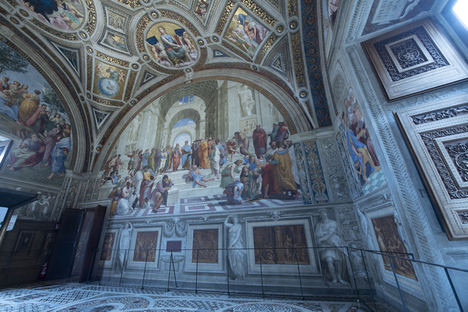 La solución de Carrier mejora el confort y favorece la conservación del arte en las Estancias de Rafael de los Museos Vaticanos