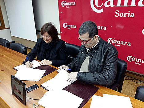La Cámara de Comercio de Soria y el Ayuntamiento de San Esteban de Gormaz renuevan su colaboración para 2017