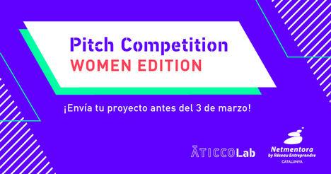 Abierta la convocatoria de AticcoLab Pitch Competition – Women Edition with Netmentora Catalunya