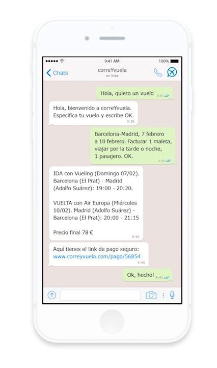 La venta de vuelos a través de chatbots atrae al consumidor sénior