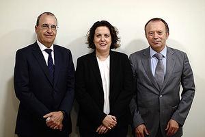 De izqda. a dcha.: José Antonio Valiente, Estela Aracil y José Pascual Poveda.