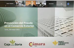 La Cámara y Caja Rural de Soria ayudan a las empresas a detectar y prevenir los crecientes fraudes en el comercio exterior