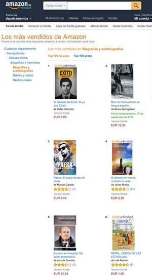 Dídac Sánchez: nº1 en ventas en Amazon