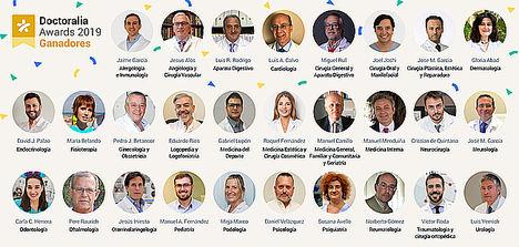 Doctoralia reconoce a los 28 profesionales de la salud mejor valorados en España