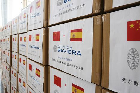 Clínica Baviera va a donar al Ministerio de Sanidad más de 300.000 unidades de material de protección hospitalaria
