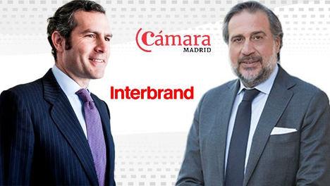 El presidente de la Cámara de Madrid, Ángel Asensio y Gonzalo Brujó, presidente global del grupo Interbrand.