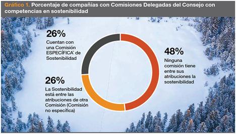 Sólo la mitad de las grandes empresas españolas tienen comisiones delegadas con competencias en sostenibilidad