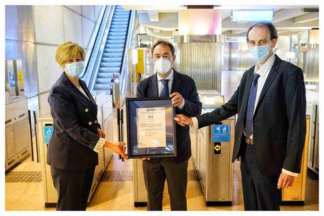 Euskotren, primer operador ferroviario en lograr el certificado AENOR de protocolos frente a la COVID-19