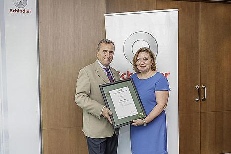 Schindler Iberia es reconocida por su labor y compromiso medioambiental por AENOR en su Primera Memoria de Sostenibilidad Verificada