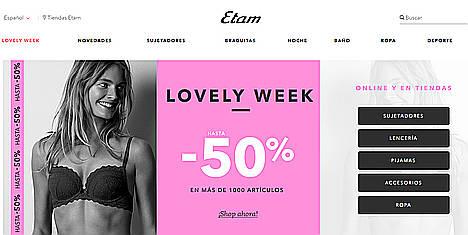 La marca de lencería francesa, Etam, apuesta por el canal digital y aumenta un 95% las ventas en su ecommerce