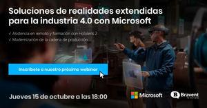 Webinar: 15 de octubre de 2020 - Realidad extendida de Microsoft para la industria 4.0