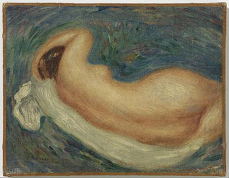 Un desnudo femenino de Renoir entre las obras de FERIARTE 2019