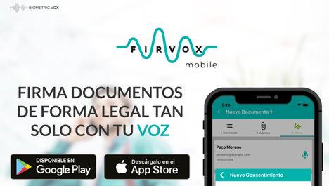 Biometric Vox lanza una app para firmar documentos y contratos con la voz desde el móvil