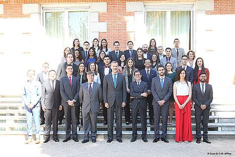Foto Grupo recepción Casa Real 2018.