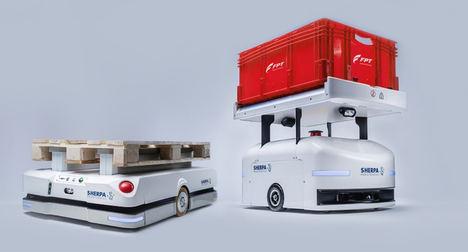 FPT Industrial produce el motor cursor 13 NG n° 10.000 en su planta de Bourbon-Lancy con la colaboración de los nuevos robots Sherpa