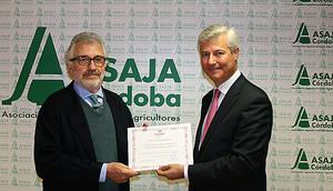 Fremap entrega a Asaja Córdoba una mención honorífica por su implicación en la prevención de riesgos laborales