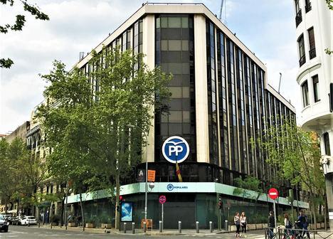 La sede del PP podría albergar alrededor de 60 viviendas