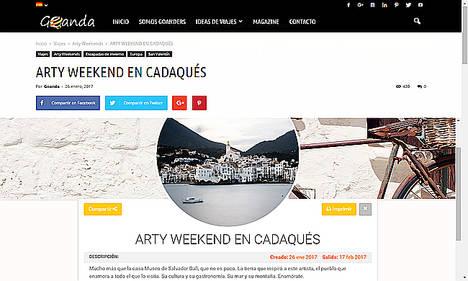 """¡Llegan los """"ArtyWeekends"""" de Goanda.com"""