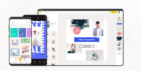 Over, la app de GoDaddy, ayuda a las pequeñas empresas a crear una imagen de marca digital actual y dinámica
