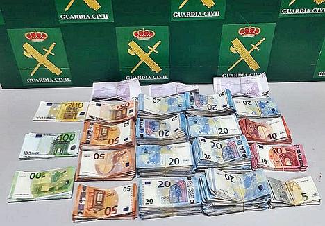 Actuaciones de la Guardia Civil contra el blanqueo de capitales en la zona fronteriza hispano-lusa de Caya