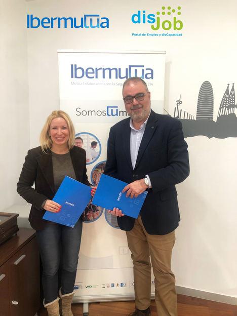 Ibermutua y Disjob firman un convenio de colaboración para la inclusión sociolaboral de personas con discapacidad