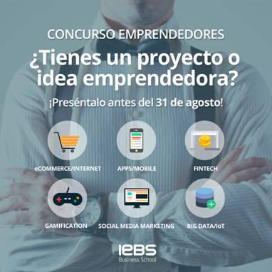 Llega la 7ª edición del Concurso de Emprendedores de IEBS