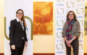 Cristina Pérez Izquierdo, socia de Salvetti Llombarg y Mirenchu del Valle Schaan, secretaria general de UNESPA.