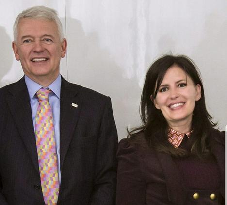 Simon Culhane, CEO del CISI y Rosa Mateus, directora del CISI en España.