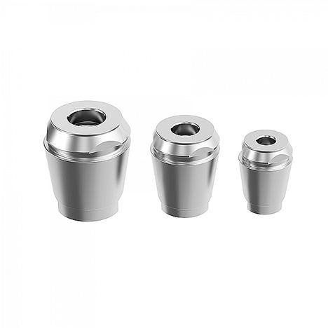 Pinzas ER de metal duro de tamaños ER25, ER32 y ER40. Compatibles con cualquier mandril de pinza ER estándar y cualquier unidad de sujeción que esté adaptada a torreta ER.