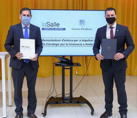 La Salle-URL y el Gobierno de Andorra firman un acuerdo para impulsar la innovación en el Principado