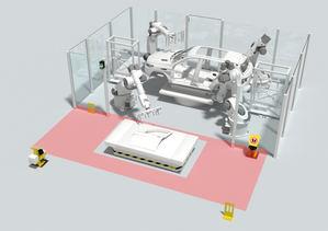 Protección dinámica de estaciones de transferencia de AGV/robot.