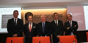 De izda. a dcha.: Roger Domingo, Carlos Puig de Travy, José Mª Gay de Liébana, Francisco Gracia y Joan Carles Galcerán.