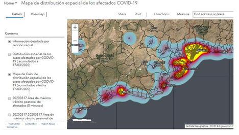 La Universidad de Málaga y Esri elaboran mapas para ubicar las zonas con mayor riesgo de contagio por COVID-19 en la provincia