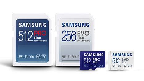 Samsung presenta las tarjetas microSD rápidas y duraderas PRO Plus y las EVO Plus mejoradas, para el uso diario de cualquier tipo de usuario