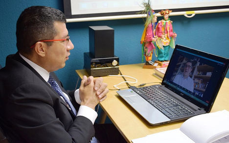 Nicaragua sostiene reunión virtual con el diputado socialista español Patxi López