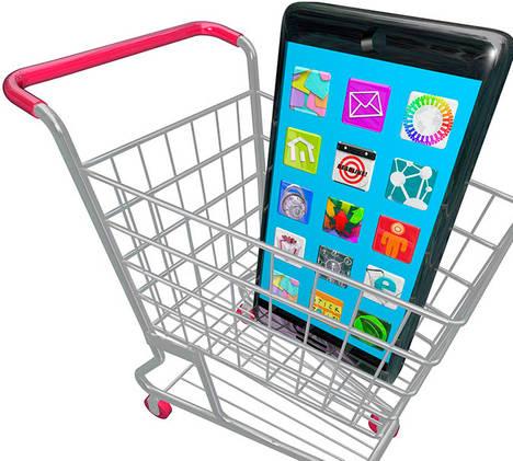 Se dispara el uso del móvil para hacer compras