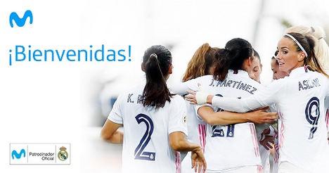 Movistar amplía su acuerdo con el Real Madrid y patrocina al primer equipo femenino de fútbol