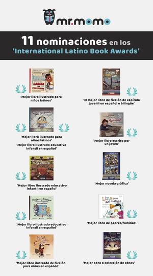 La editorial infantil española mr.momo recibe 11 nominaciones en los 'International Latino Book Awards'