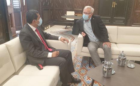 Embajador de Nicaragua visita al Alcalde de Valencia