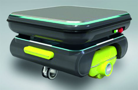 Los robots móviles para ubicaciones silenciosas ahora se han convertido en una realidad gracias a las unidades de rueda con sistemas de tracción directa NSK