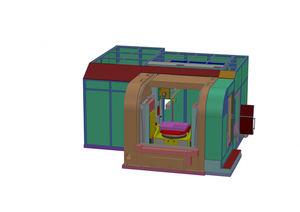 Un esquema que muestra el diseño del nuevo taladro para agujeros profundos MF1000-3T de IMSA, que incluye la última tecnología de husillos a bolas estándar DIN de NSK.