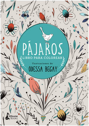 Un libro para colorear con más de cien ilustraciones de pájaros y plantas inspiradas en el arte popular europeo