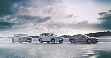 BMW iX3, i4 y iNEXT en pruebas en el Círculo Polar Ártico