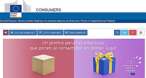 Nuevo premio europeo para reconocer a los mejores en materia seguridad de los productos